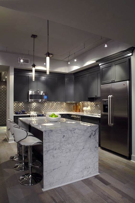 white-marble-island-counter-top