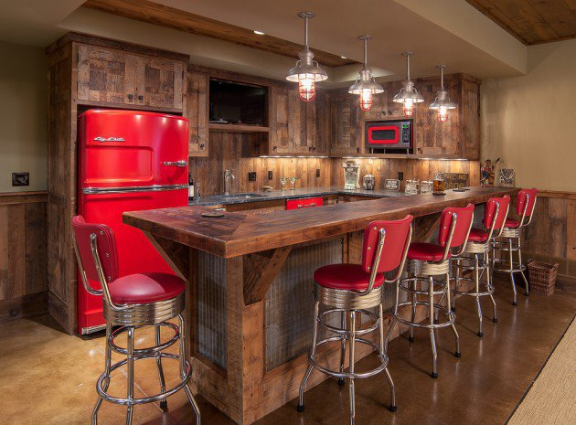 Awe Inspiring Rustic Home Bars
