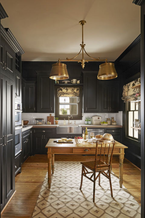black-kitchen-cabinets