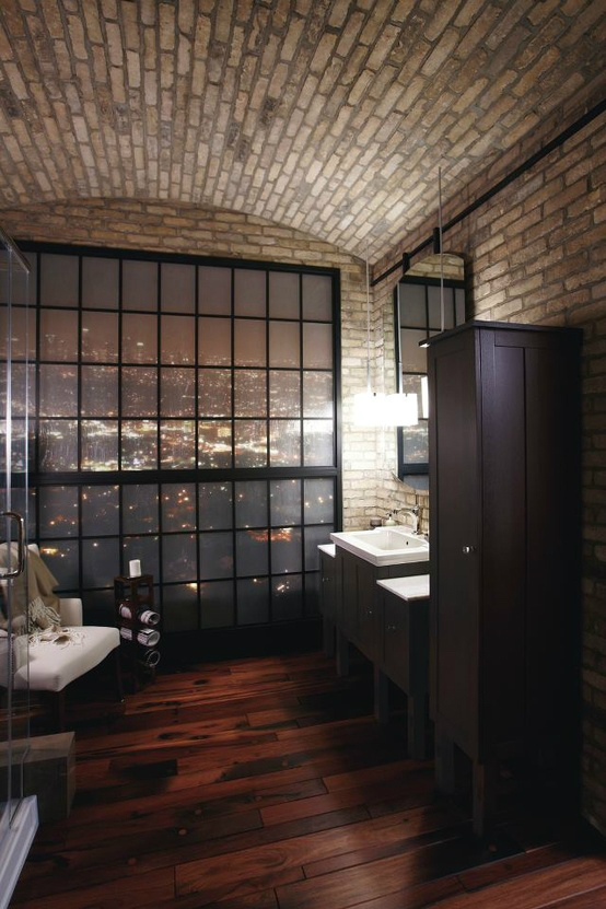 dark-wooden-floor-industrial-bathroom-design