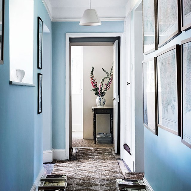 hallway-with-framed-pictures