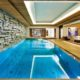 Sleek and contemporary indoor pool idea