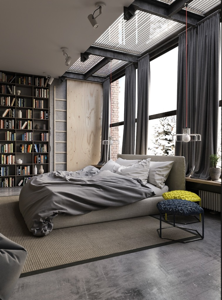 gray-industrial-bedroom-decor