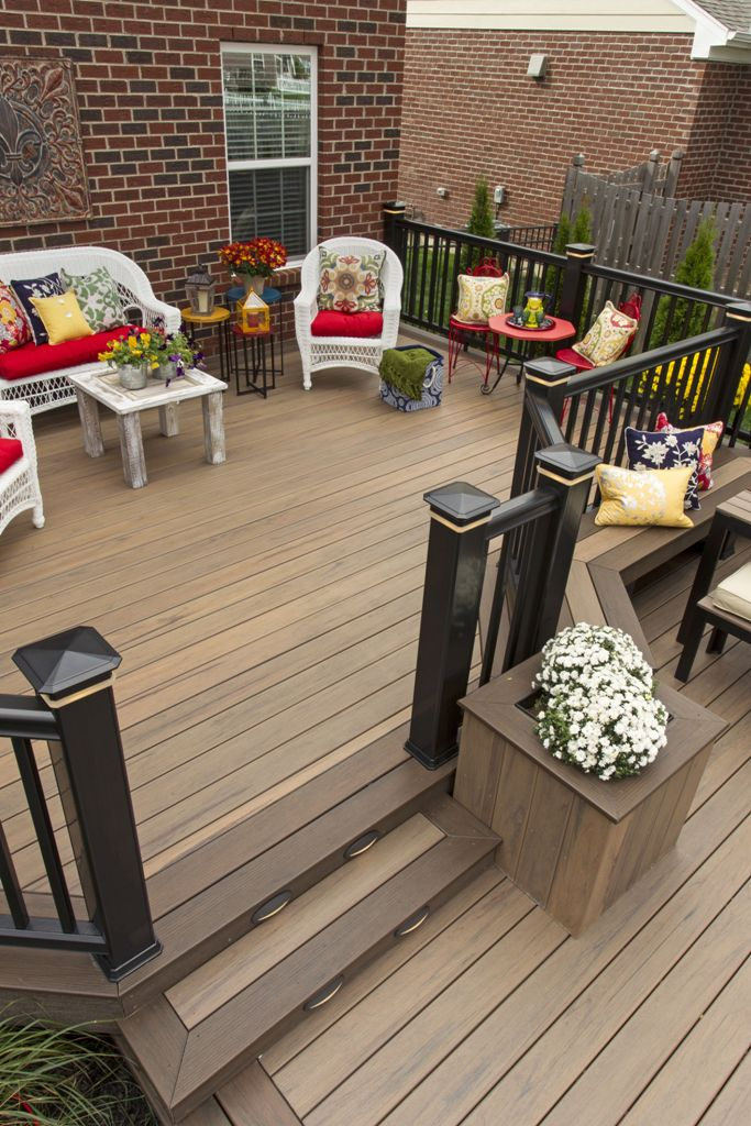 Traditional wooden decking